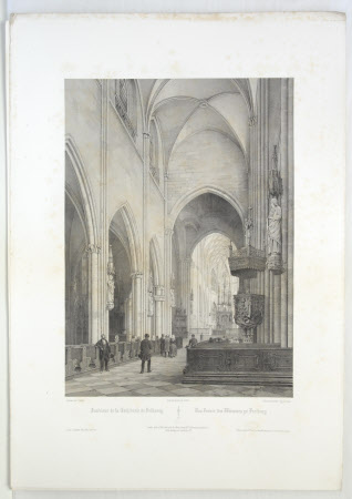 Interior of Fribourg Cathedral (after Jean Baptiste Chapuy)