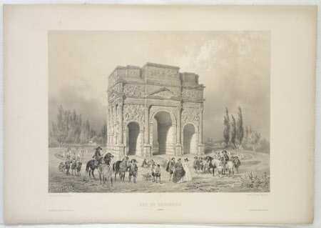 The Triumphal Arch of Orange, France (after Guesdon)
