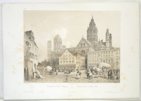 General view of the Cathedral, Mainz, Germany (after Jean-Baptiste Chapuy)