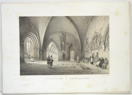 View of the Cloisters, Mainz Cathedral (after Jean Baptiste Chapuy)