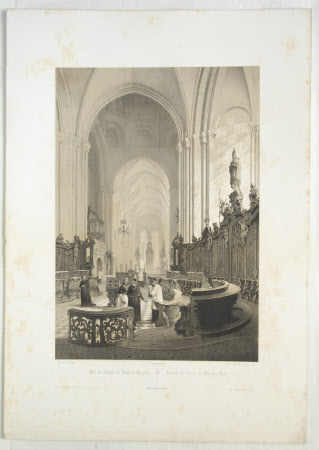 View of the Choir, Mainz Cathedral (after Charles Claude Bachelier)