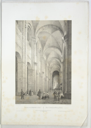Interior of the Cathedral of Speier (after Charles Claude Bachelier)
