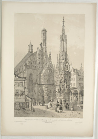 Church of Notre Dame et belle Fontaine, Nuremberg (after Auguste Mathieu)