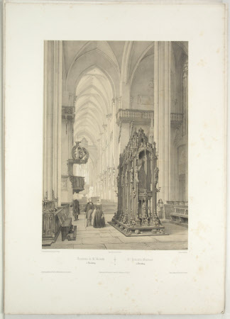 Tomb of St. Sebald, Church of St. Sebald, Nuremberg  (after Jean Baptiste Chapuy)