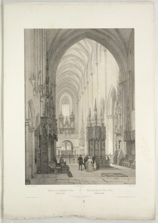 Interior of the Cathedral of Ulm (after Auguste Mathieu)