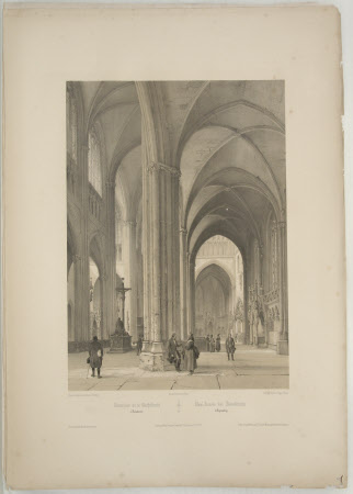 Interior of Regensburg Cathedral (after Jean Baptiste Chapuy)
