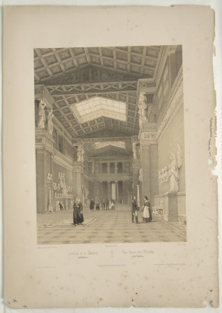 Interior of Walhalla, Donaustauf (after Jean Baptiste Chapuy)