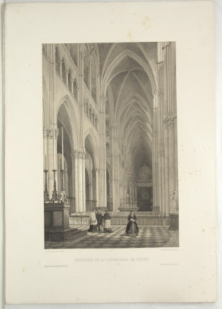 Interior of Rheims Cathedral (after Jean Baptiste Chapuy)