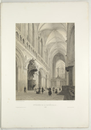 Interior of the Cathedral, Bayeux (after Jean Baptiste Chapuy)