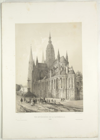 Exterior of the Cathedral, Bayeux (after Jean Baptiste Chapuy)