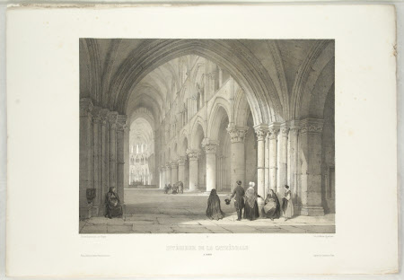 Interior of the Cathedral, Lisieux (after Jean Baptiste Chapuy)