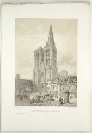 Exterior of the Cathedral, Lisieux (after Jean Baptiste Chapuy)