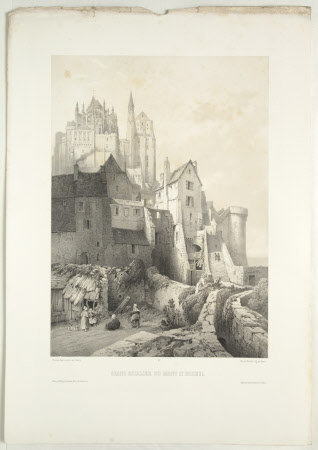 Grand stairs, Mont St Michel (after Jean Baptiste Chapuy)