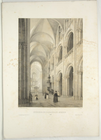 Interior of  the Abbaye aux Hommes, Caen (after Jean Baptiste Chapuy)