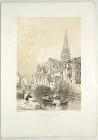 View of the Church of St. Pierre, Caen (after Jean Baptiste Chapuy)