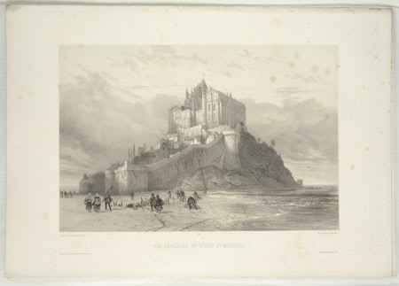 View of Mont St. Michel (after Jean Baptiste Chapuy)