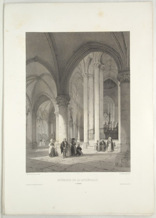 Interior of the Cathedral of Coutances (after Jean Baptiste Chapuy)