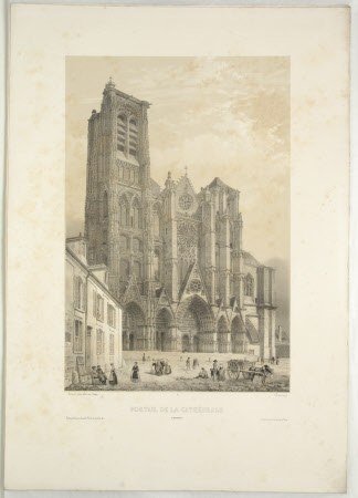 Facade of the Cathedral, Bourges (after Jean Baptiste Chapuy)