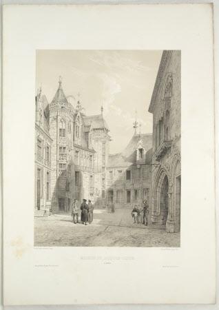 Maison de Jacques-Coeur a Bourges (after Jean Baptiste Chapuy)