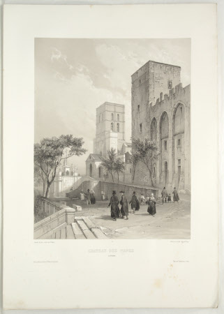 Chateau des Papes a Avignon (after Jean Baptiste Chapuy)