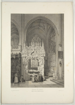 Tomb of Marguerite de Bourbon (1438-1483), Royal Monastery, Brou. (after Auguste Mathieu)