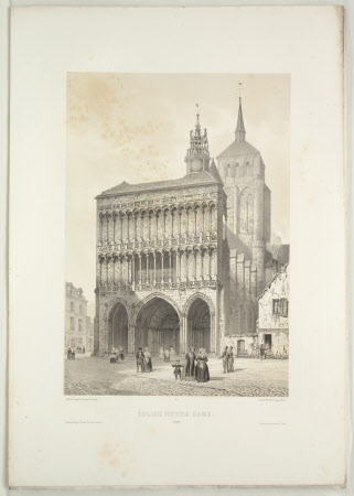 Church of Notre Dame, Dijon (after Jean Baptiste Chapuy)