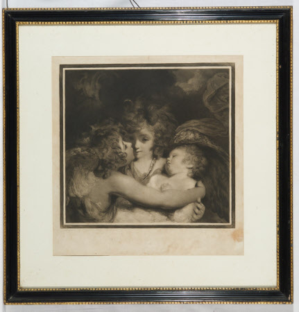 A Child with Guardian Angels (after Sir Joshua Reynolds)