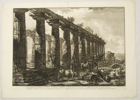 Side View of the Temple of Juno, Paestum, Italy