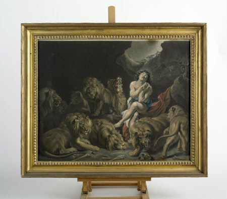 Daniel in Lion's Den (after Rubens)