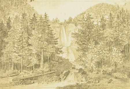 Waterfall in Valais, Switzerland