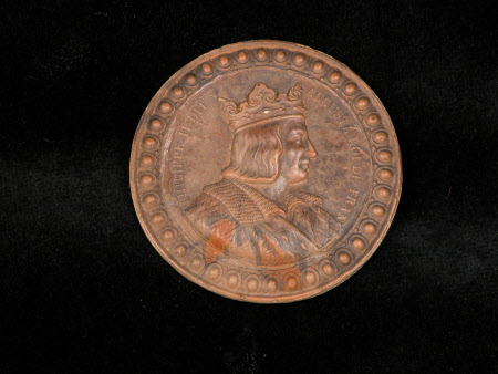 Medallion: King Philip II, Augustus, King of France (1165-1223).
