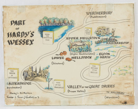 Map of Thomas Hardy's Wessex