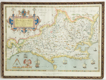 Map of Dorsetshire, 1575
