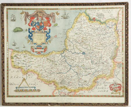 Map of Somerset, 1575,