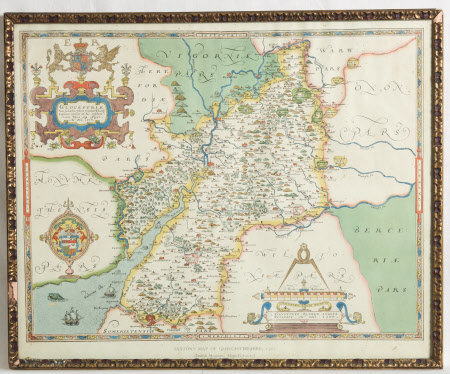 Map of Gloucestershire, 1577