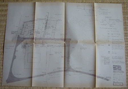 Four plans showing alterations to the Car Park at Wimpole Hall, Cambridgeshire