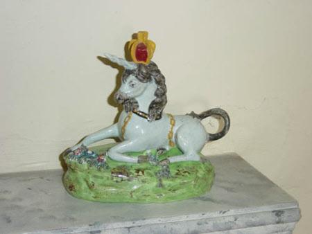 A Unicorn wearing a Crown