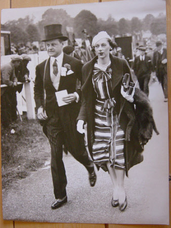 Huttleston Rogers Broughton, 1st Lord Fairhaven, (1896-1966) and a lady at the races