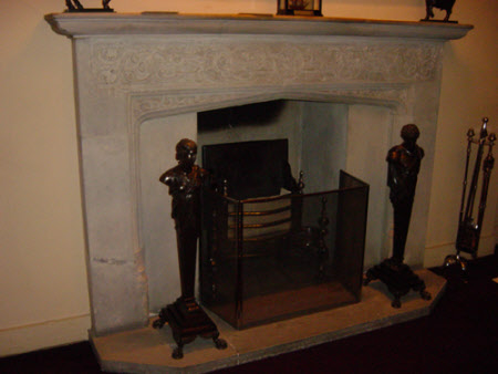 Chimneypiece, with carved frieze, Ship's Bedroom, Anglesey Abbey