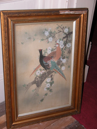 Two Pheasants on a Blossom Branch