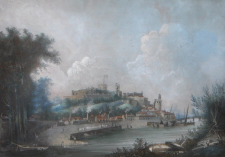 View of Windsor Castle from the River, 1799
