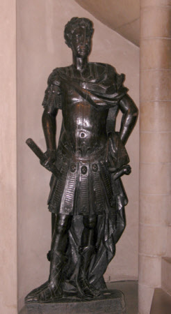 Male figure in Roman imperial garb, probably Charles II or William III