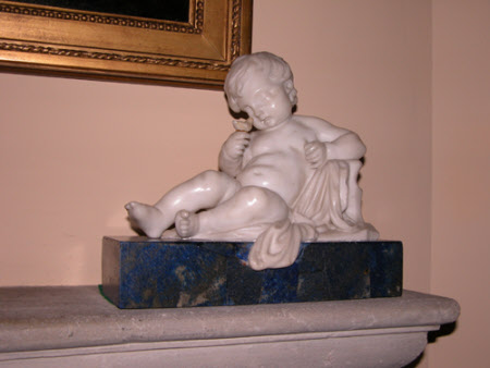 Reclining Putto with a Bird