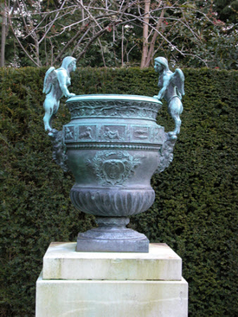 Urn with Sphinx and Satyr Mascaron handles (designed by Claude Ballin II and modelled by Nicolas ...
