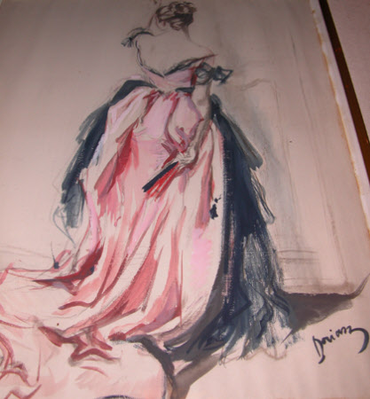 Lady in Evening Dress