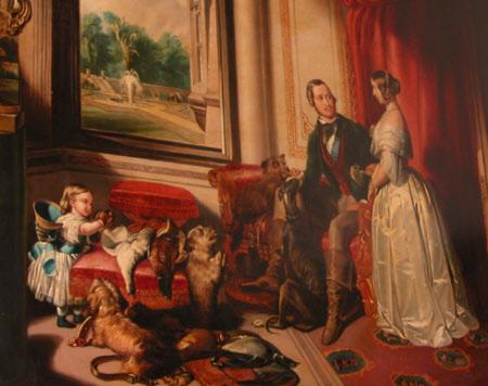 Italian Greyhound Queen Victoria 'Windsor Castle in Mod...