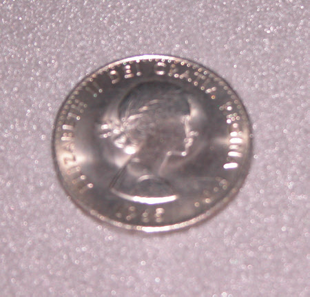 Silver coin, Churchill Crown 1965. Bust of Sir Winston Leonard Spencer Churchill (1874 - 1965)l and ...
