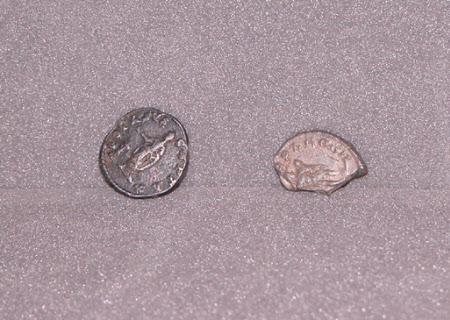 Two coins: Emperor Caracalla, Emperor of Rome(188–217)