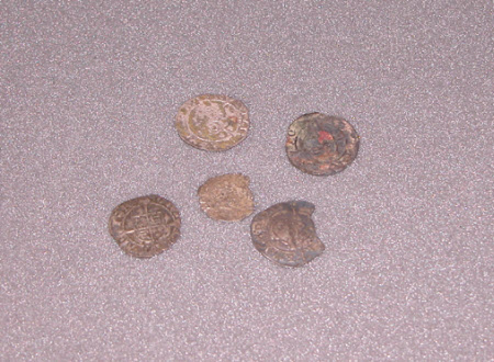 Five Silver Coins: King Henry VIII (1491-1547)