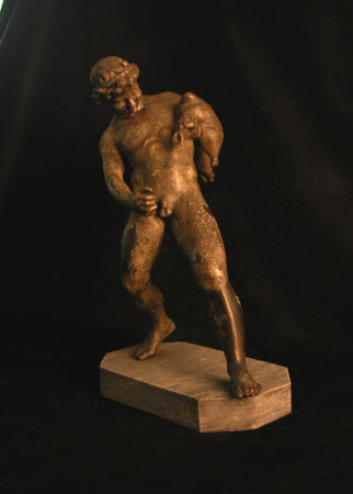 Faun with a wineskin